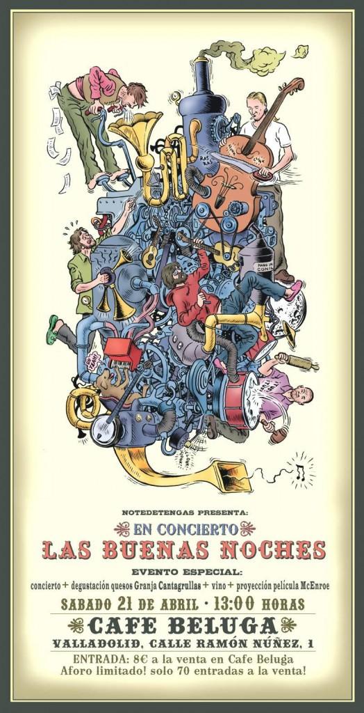 Concierto Las Buenas Noches 524x1024 Cantagrullas en un concierto vermut
