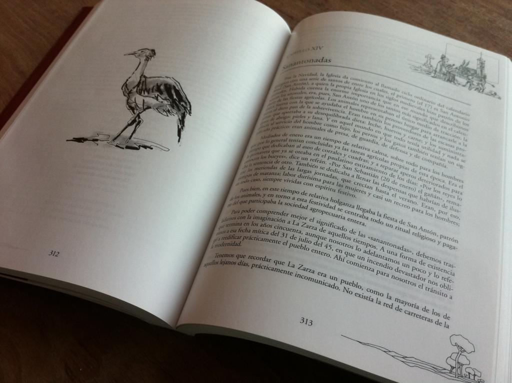 interior del libro de José María Amor por la tierra